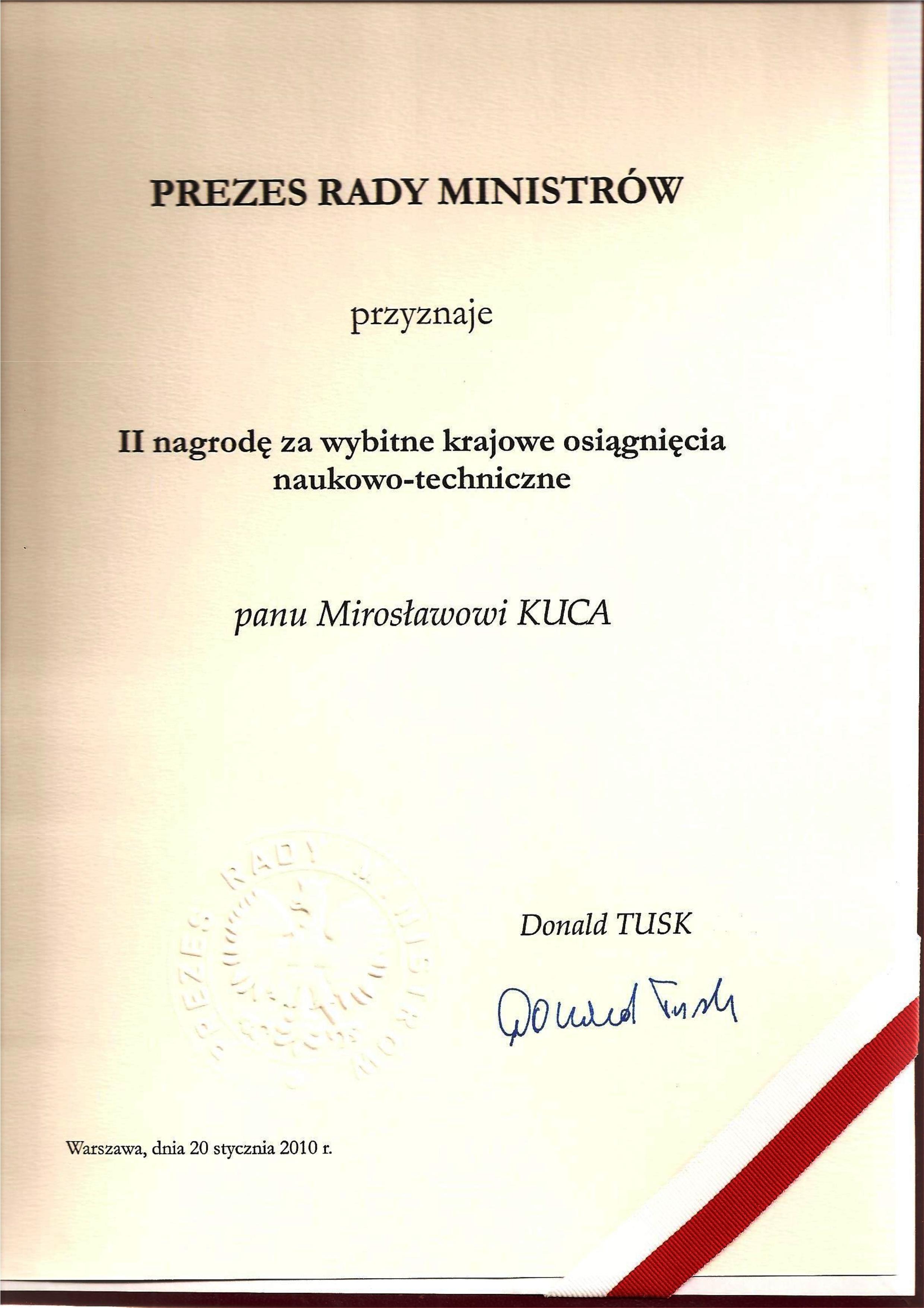Nagroda PREZESA RM 20.01.2010