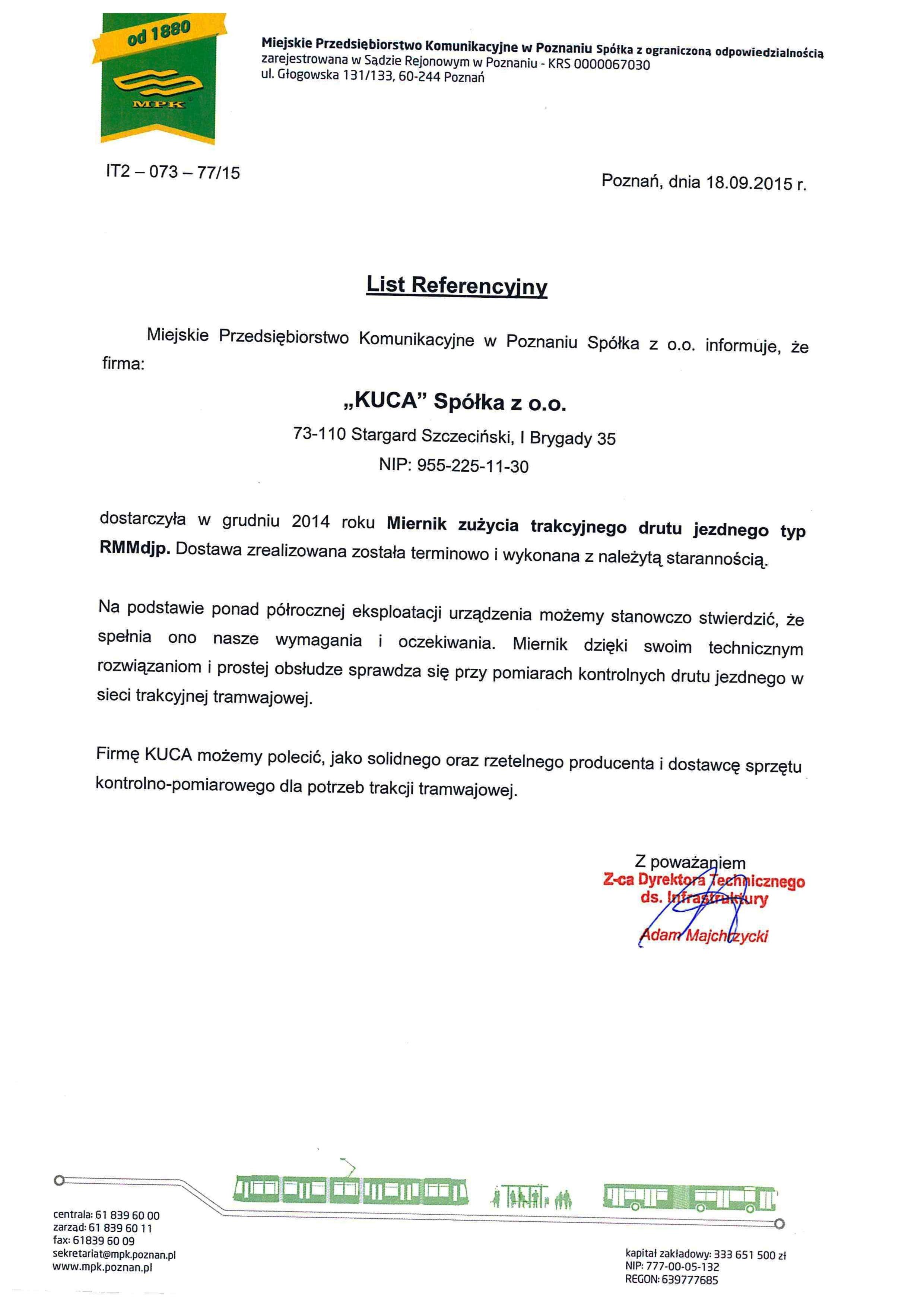 Referencje MPK 18.09.2015