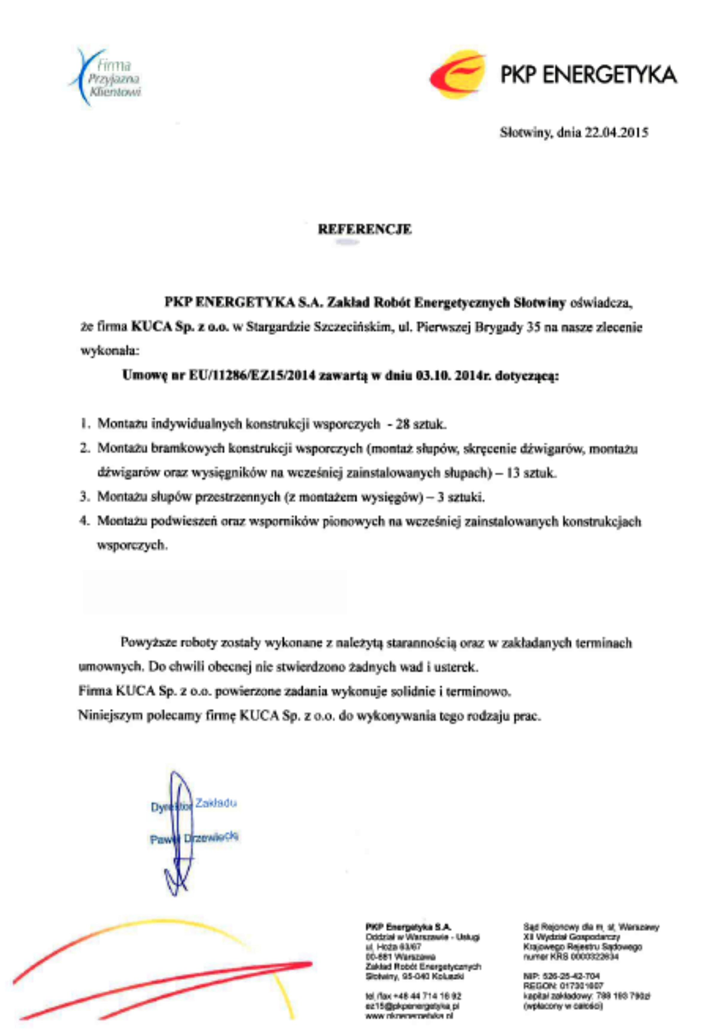 Referencje PKP ENERGETYKA 22.04.2015_v2