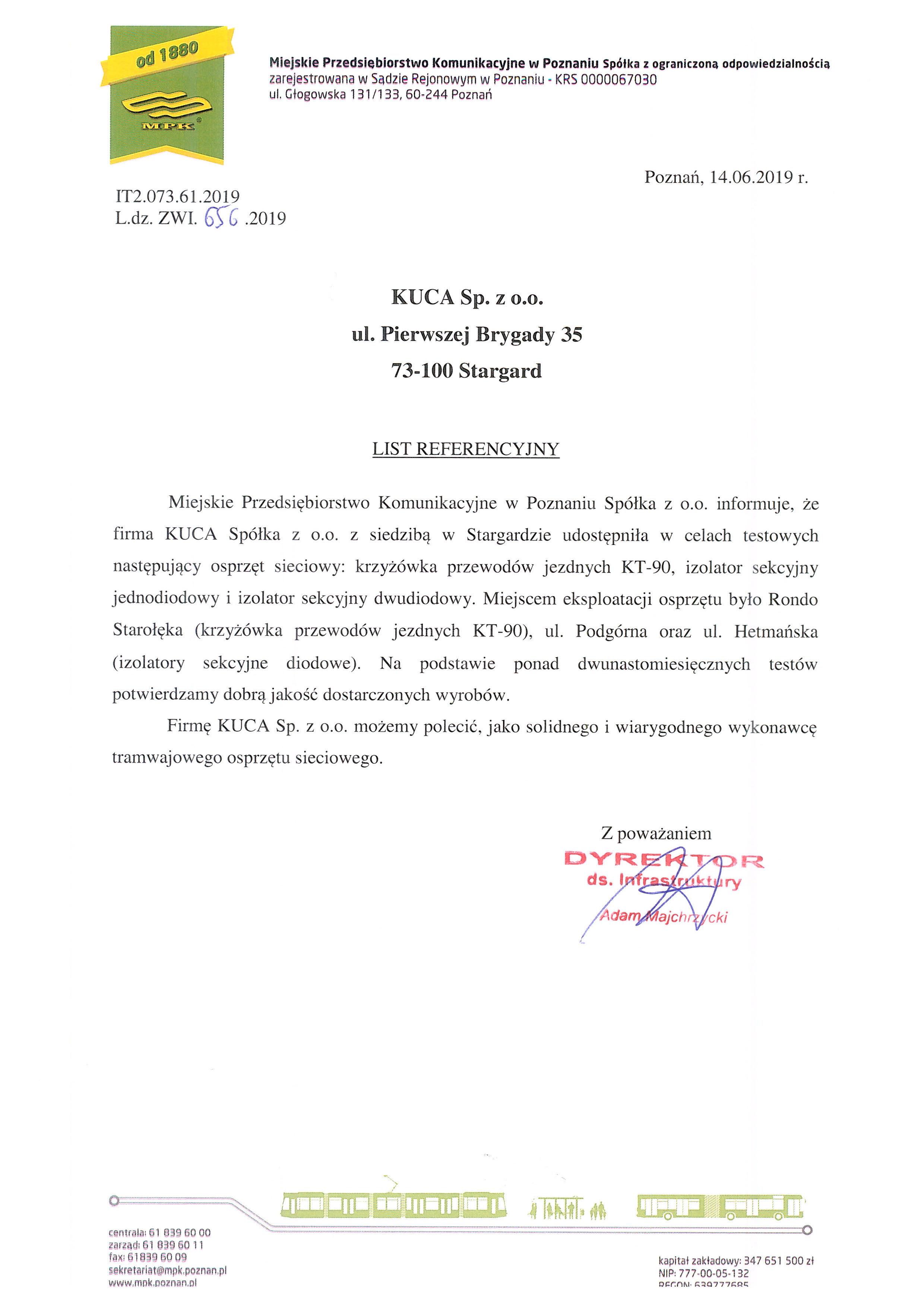 LIST REFERENCYJNY MKP w Poznaniu_14.06.2019