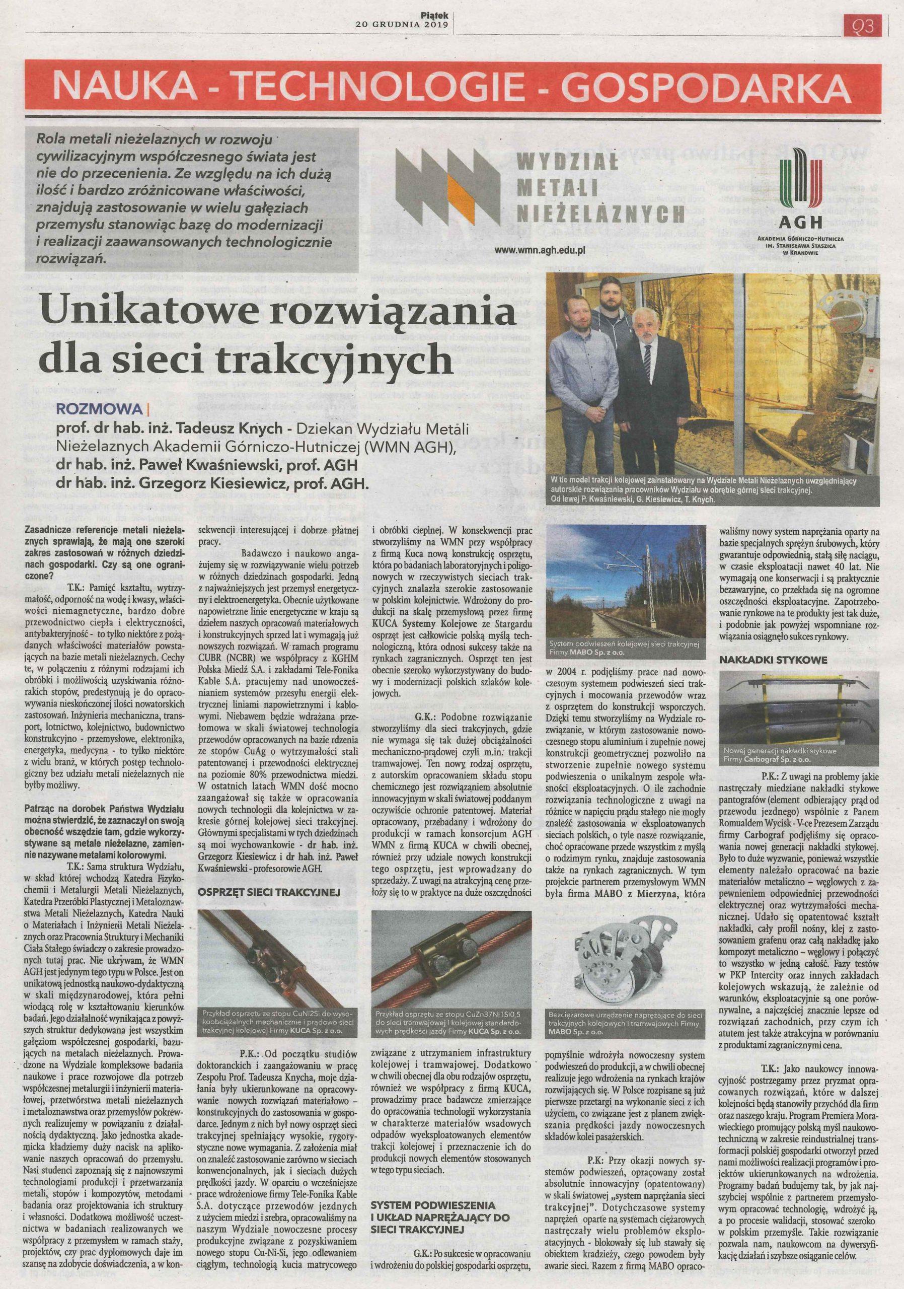 Artykuł Rzeczposplita AGH 12.2019